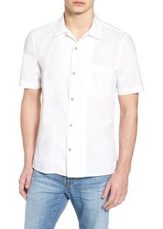 French Connection Short Sleeve Garment Dye Poplin Slim Fit Shirt