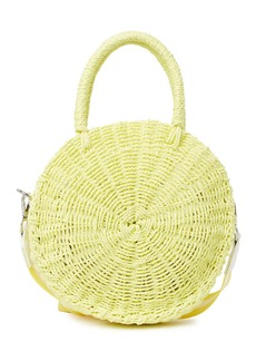 French Connection Simone Woven Straw Crossbody Bag