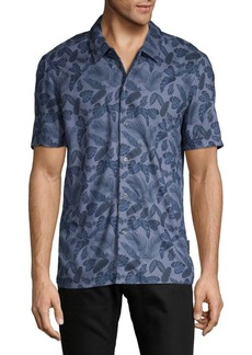French Connection Slim-Fit Hawaiian Leaf Shirt