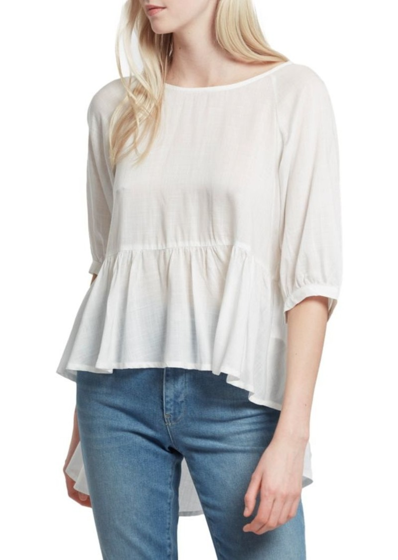 French Connection Slub Woven Top