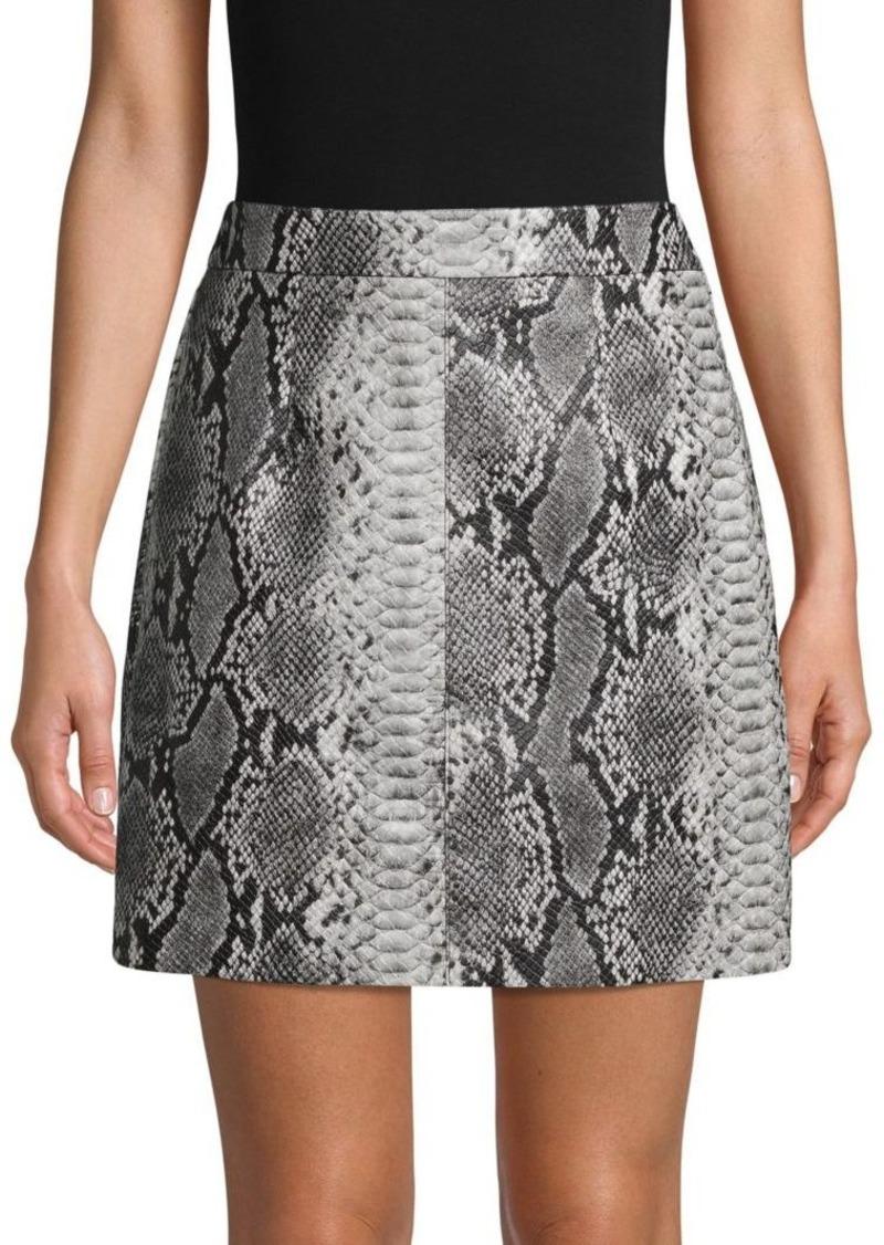French Connection Snakeskin Mini Skirt