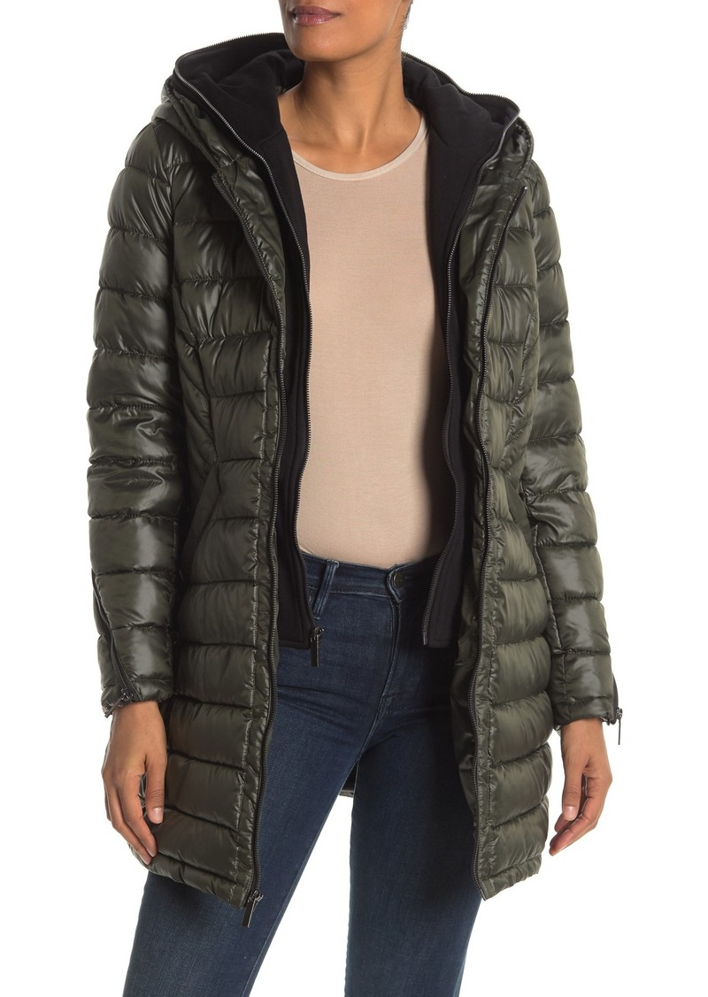 French Connection Softshell Dickey Insert Puffer Jacket