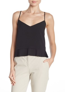 French Connection Solid Crepe Pleated Tank Top