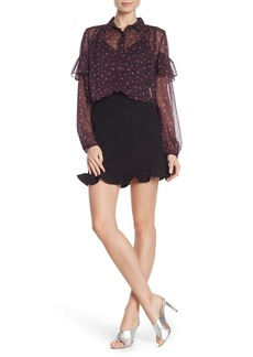 French Connection Solid Frill Mini Skirt