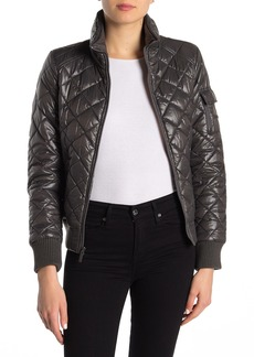 French Connection Solid Quilted Bomber Jacket
