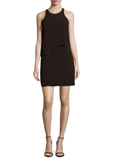 French Connection Solid Ruffle Dress