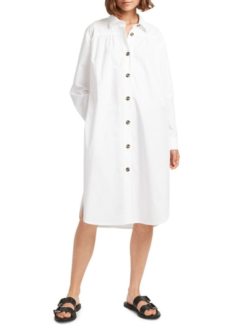 French Connection Southside Belted Cotton Shirtdress