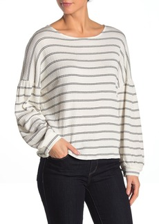 French Connection Striped Balloon Sleeve Top