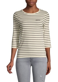French Connection Striped Stretch Top