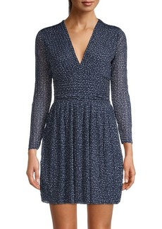 French Connection Tabia Printed Long-Sleeve Dress