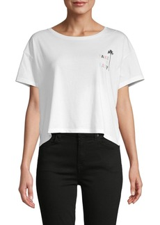 French Connection Take It Easy Cropped T-Shirt
