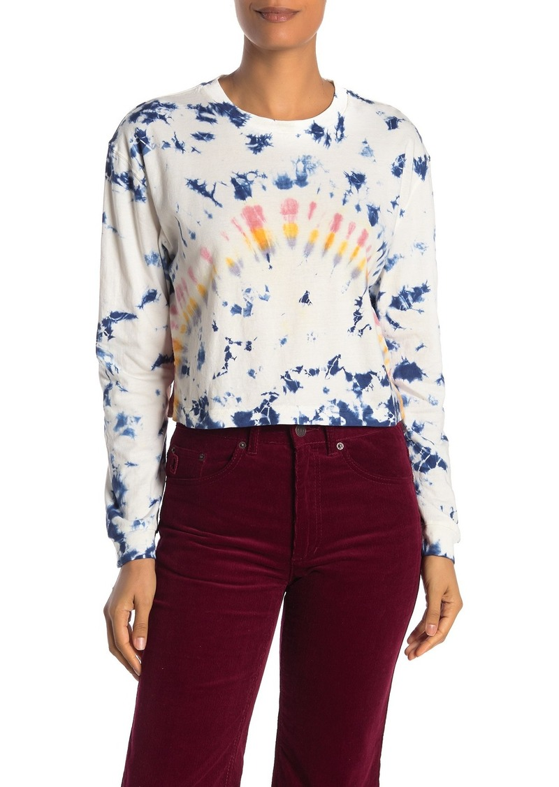French Connection Tie Dye Zinnia Long Sleeve Crop Top