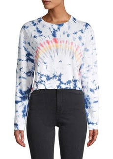 French Connection Tie-Dyed Cropped Cotton Top