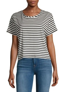 French Connection Tim Tim Striped Cropped Tee