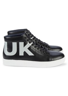 French Connection Triomphe High-Top Leather Sneakers