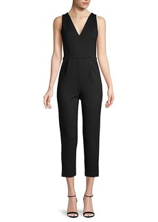 French Connection V-Neck Sleeveless Jumpsuit