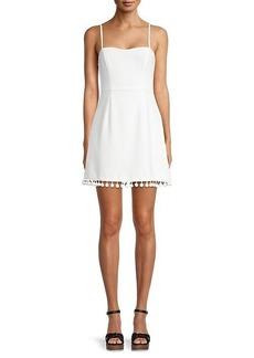 French Connection Whisper Pom-Pom Mini Dress