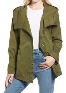 Women's French Connection Drape Front Hooded Jacket
