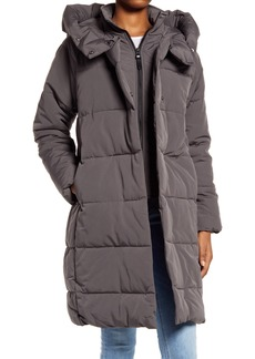 Women's French Connection Water Resistant Relaxed Fit Pillow Collar Puffer Coat