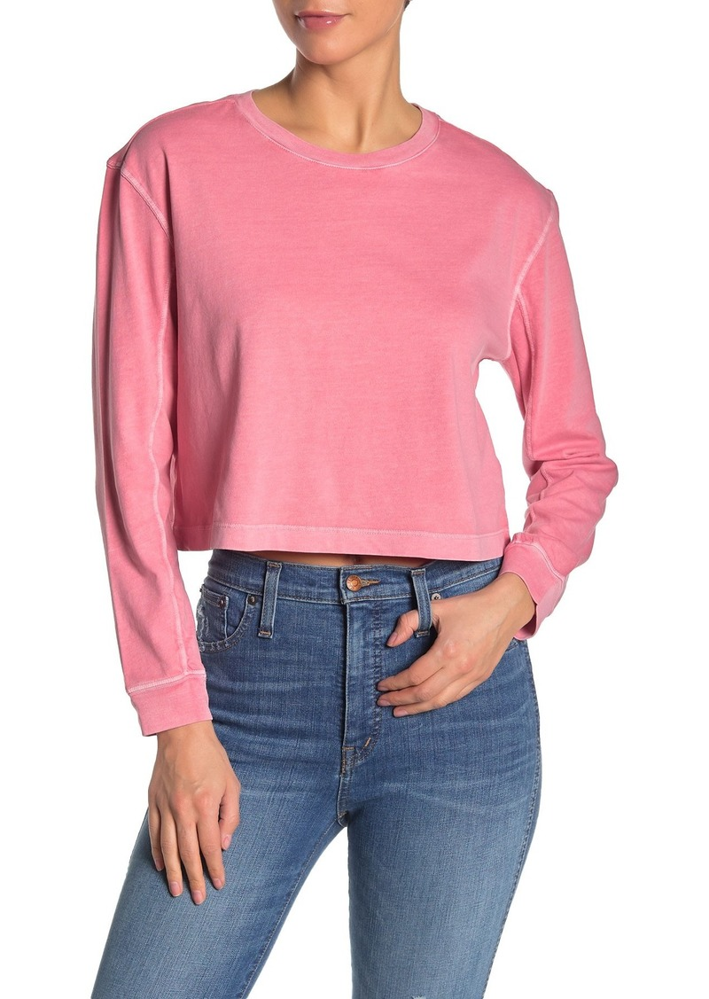 French Connection Zinnia Long Sleeve Crop T-Shirt