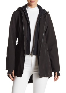 French Connection Zip Front Hooded Jacket