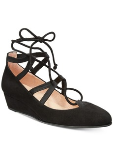 French Sole Fs/Ny Twosome Lace-Up Wedges Women's Shoes
