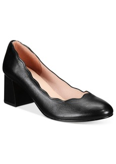 French Sole Fs/Ny Wave Block-Heel Pumps Women's Shoes