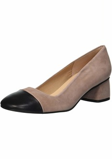 French Sole FS/NY Women's Carmen2 Pump Black/Dusty pk  M US