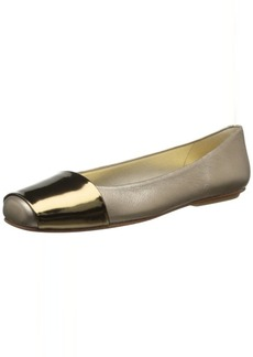 French Sole FS/NY Women's Via Metallic-Leather Ballet Flat