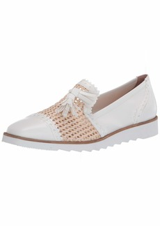 French Sole FS/NY Women's Woven Smoking Slipper Loafer Flat   M US