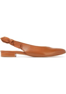 French Sole Woman Penelope Leather Slingback Point-toe Flats Light Brown