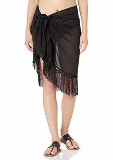 Freya Women's Macramé Swim Wrap Sheer Fringe Poolside or Beach