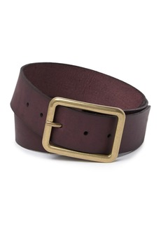 Frye Square Buckle Leather Belt