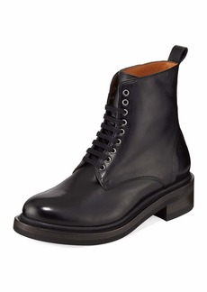 Frye Alice Combat Leather Boot