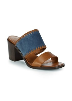 Frye Ashley Suede and Leather Mules