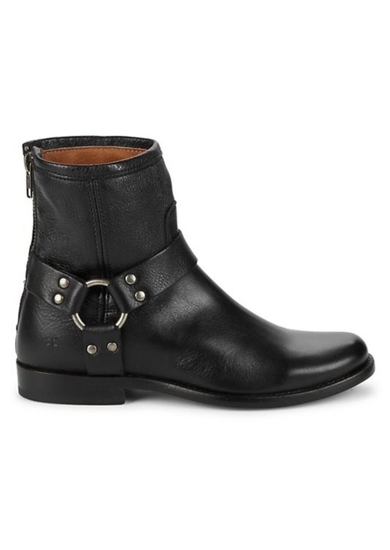 Frye Back-Zip Leather Booties