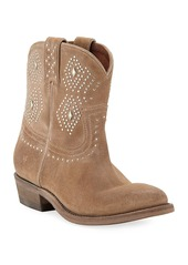 Frye Billy Studded Suede Western Booties