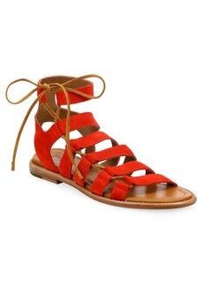 Frye Blair Side Lace-Up Suede Sandals