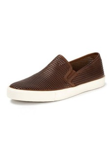 Frye Brett Perforated Leather Slip-On Sneaker