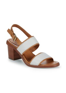 Frye Brielle Overlay Leather Slingback Sandals