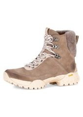 Frye Brit Shearling-Trimmed Suede Hiking Boots