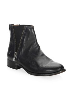 Frye Carly Zip Leather Chelsea Boots