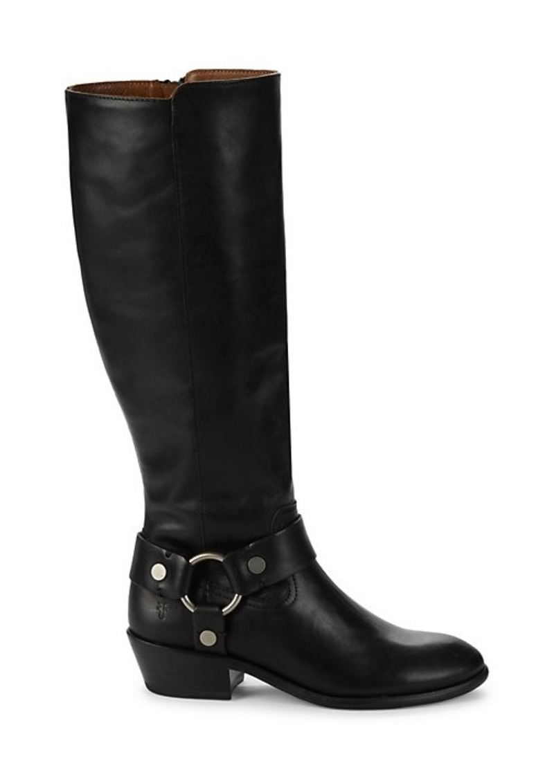 Frye Carson Harness Leather Knee-High Boots