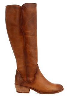 Frye Carson Leather Piping Tall Western Boots