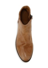 Frye Carson Logo Leather Ankle Boots