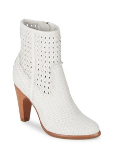Frye Celeste Woven Leather Booties