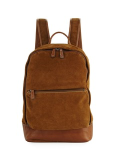Frye Chris Suede Dual-Zip Backpack