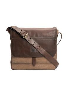 Frye Ethan Canvas & Leather Messenger Bag