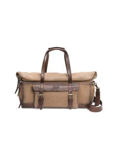 Frye Ethan Canvas Leather-Trim Duffle Bag