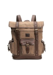 Frye Ethan Leather-Trim Backpack